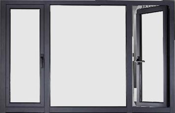 Поворотные алюминиевые окна