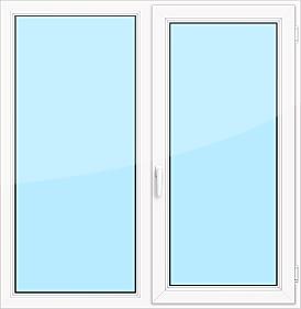 2-х створчатое пластиковое окно