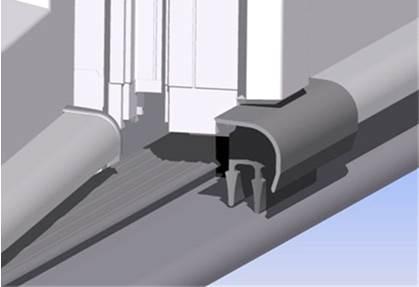 Уплотнение области штульпа для отлива