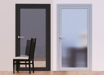 Внутренние алюминиевые двери